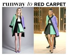 """""""Runway to Red Carpet: Zendaya in Fausto Puglisi Chic Oversized Coats Look"""" by farrahdyna ❤ liked on Polyvore featuring FAUSTO PUGLISI"""