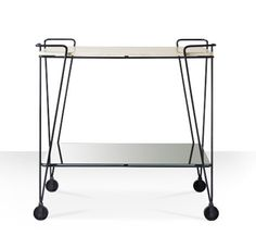 Product: Kenzi bar trolley in marble & iron, A monochrome favourite - add a touch of Deco style to the party. Contemporary Side Tables, Contemporary Bar, Bar Trolley, Bar Carts, Black Bar Cart, Monochrome Interior, Swoon Editions, Tea Cart, Gold Marble