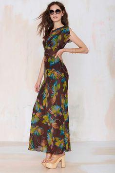 Vintage Betsey Johnson Amalia Chiffon Dress