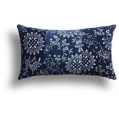 Vintage Indigo Eternal Knot Pillow, 10 X 17 IN