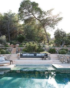 Spanish Pool, Spanish House, Villa Pool, Pool Landscape Design, Island Villa, Moraira, Modern Rustic Homes, Water Element, Dream Pools