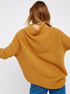 Ottoman Slouchy Tunic | Heavy knit ribbed sweater tunic in a slouchy, oversized stretchy fit. Features a sleek mock neck.