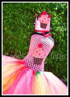 RAINBOW FROSTED CUPCAKE Crocheted Tutu Dress by goodygoodytutus, $75.00