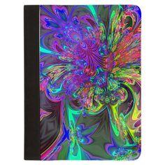 Glowing Burst of Color Deva Padfolio #sold #deva #fractal #rainbow