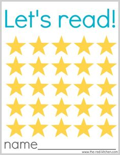 Let's Read! (Free printable reading charts)    --Just in time for summer reading!--    www.the-red-kitchen.com