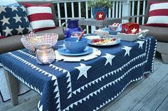 I want the quilt tablecloth!