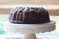 Vegan Gingerbread Pear Bundt Cake with Caramel Sauce