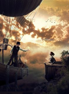 Damsel and an airship steampunk Steampunk Mode, Steampunk Airship, Steampunk Fashion, Steampunk Artwork, Steampunk Pirate, Diesel Punk, Story Inspiration, Character Inspiration, Fantasy World