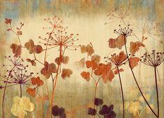 Vintage Löwenzahn Tapete Poetsie Blume Blatt Wand von DreamyWall