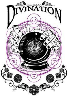 «Divination - D&D Magic School Series : Black» de Milmino