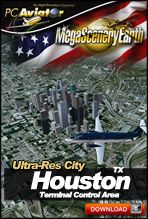Download MegaSceneryEarth 2.0 Ultra-Res City Houston for FSX and P3D - 50cm/pixel scenery covering the famous city in Texas, USA!