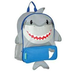 Stephen Joseph Shark Monogrammed Sidekick Backpack for Boys