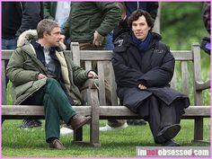 Sherlock & John, May 21, 2013, waiting for filming...  http://pinterest.com/aggiedem/sherlock-addict/ http://pinterest.com/aggiedem/sherbatched-or-cumberlocked/