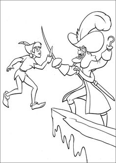 peter pan s captain hook coloring page coloring pages activity
