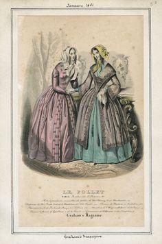 Graham's Magazine - Le Follet January 1846 LAPL