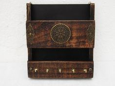 Mail holder and key rack  / wall hanging letter by RegalosRusticos, $28.00
