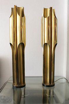 eBay   Maison Charles paire de lampe Orgues ca.1970