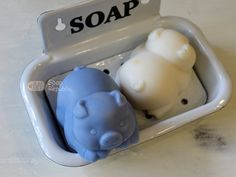 3D Design Sleeping Pig Silicone Soap Mold  Soap by soaprepublic, $18.00