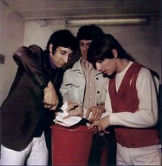 Pete Townshend cutting off Keith Moon's finger with pliers