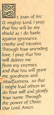 A prayer for St. Joan of Arc