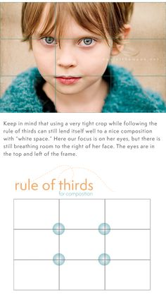 "Great tips on the ""rule of thirds"" and ""white space"" when taking photos. Love this site!"