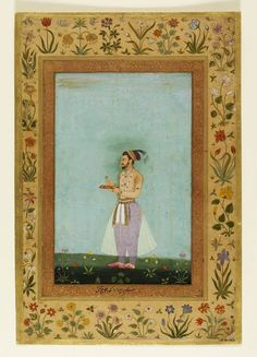 Dara Shukoh, eldest son of Shah Jahan Mughal Empire (made) Date: 1640-1 (made) Artist/Maker: Chitarman (maker) Materials and Techniques: Painted in opaque watercolour and gold on paper