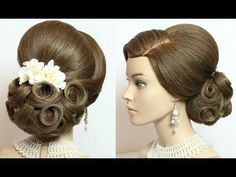 2 wedding hairstyles. Updos for long medium hair tutorial - YouTube