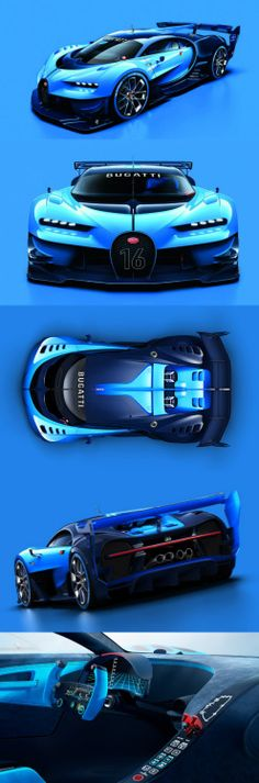 Bugatti Vision GT Concept  Im seriously drooling here.  @hjortizr [Follow Comment Like Share]