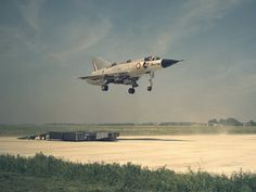 Dassault Balzac, a French V/STOL version of the Mirage III.