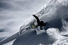 This is just the most awesome photo - Powerful powder turn by Tristan Shu Photography, via Flickr