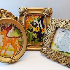 Disney Bambi Story Book Prints - Set of Three - Vintage Little Golden Book on Etsy, $16.50