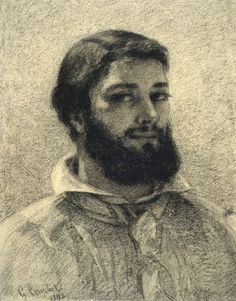 Gustave Courbet, Self-portrait.   British Museum
