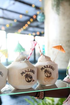 Summer In Nyc, Malibu Rum, Coconut, Sequins, Bows, Sunshine State, Table Decorations, Party, Cocktails