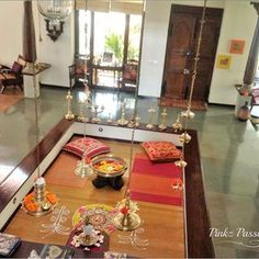 Pinkz Passion : Strong and bold Indian flavors (Home Tour of Viji Jayaraman) Indian Home Design, Traditional House, Natural Home Decor, Indian Decor, Indian Homes, Kerala House Design, House Interior Decor, Chettinad House, Living Area Design