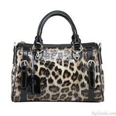 Klassiker Luxuriöse Leopard Print Leder Handtasche only $65 in ByGoods.com!