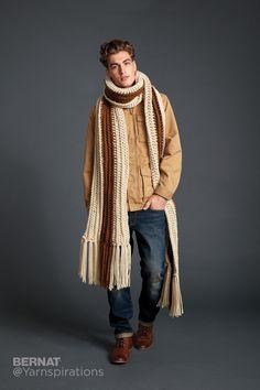 Highline Crochet Super Scarf - Patterns | Yarnspirations