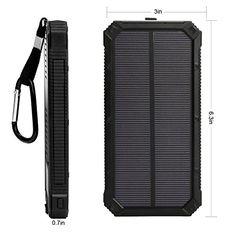 Cargador solar,Upow 15000mAh batería externa portátil solar con 2 usb y LED - http://cargadorespara.com/comprar/solares/cargador-solarupow-15000mah-bateria-externa-portatil-solar-con-2-usb-y-led/