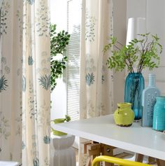 Flowers and plants pattern Polyester cotton printed curtains. Blackout drapes soft and comfortable fabrics. Clear and simple.-in Curtains from Home & Garden on Aliexpress.com | Alibaba Group
