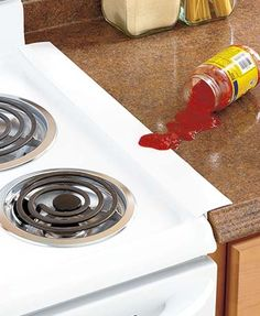 Keep things tidy with a Set of 2 Silicone Counter Gap Covers. Use these covers to bridge the gap between stove and counter, washer and dryer, desk and printer stand, and more. Durable silicone won't warp or melt in temperatures up to 500°F. Won't scu