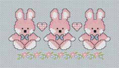 Cross Stitch PDF descargable gráfico bebé niña por Annieinstitches