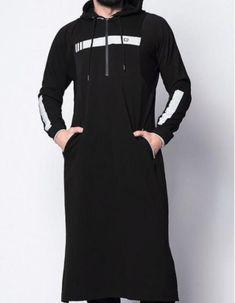 2019 New Men's Muslim Arabian Strap Full Length Hooded Kaftan Traditional Muslim Abaya Islamic Male Casual Clothing – – Indian Men Fashion, Muslim Fashion, Modest Fashion, Hijab Fashion, Jubbah Men, Vogue Fashion, Urban Fashion, Kaftan, Kurta Men