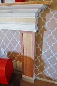 DIY Mantle; But i want this for our bed frame!