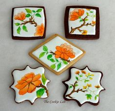 "Hand painted cookies, Julia Usher's Cookieconnection website: ""#7: Simply called Flowers, our seventh place cookie set, crafted by two-time winner The Cookie Lab, speaks (boldly!) for itself."""