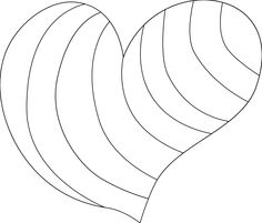 35 - good heart template for cutouts for heart animals | LDS Sunbeam ...