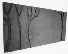 Acoustic panel. Hiljaiset Puut akustiikkareliefi