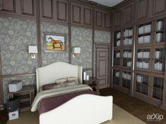 Загородный дом в Английском стиле: интерьер, квартира, дом, спальня, английский, 20 - 30 м2 #interiordesign #apartment #house #bedroom #dormitory #bedchamber #dorm #roost #english #british #anglican #royal #20_30m2 arXip.com