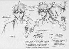 Original concept sketch of Ashido Kanō from Bleach (manga) creator Tite Kubo. #BleachManga #BleachTiteKubo