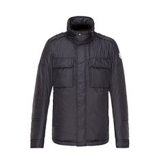 Men Moncler Black Daumier Stowaway Hood Padded Jacket