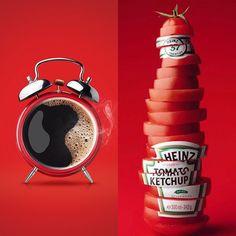 İki başarılı reklam örneği... Nescafe & Heinz Ketchup #Nescafe #Heinz #Ketchup #Coffee #Tomato #Advertisement #Marketing #Pazarlama #Reklam #Reklamcılık