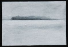 Jo Dalgety - charcoal on paper, 'I don't know how the river got so wide.' 2015